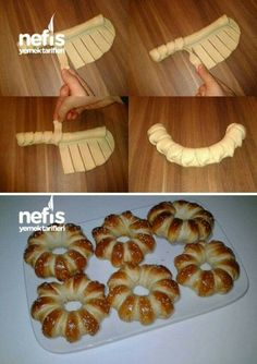 Cute way to form pretzel dough