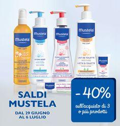 Saldi Estivi Mustela - Sconto 40% con l'acquisto di 3 prodotti! 3, Black Friday