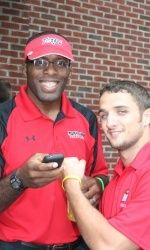 Head coach Kerry McCoy (@kmac120) & 2x NCAA All American Steven Bell at the 2010 Golf Outing. Register today to play and meet the 2012-2013 Maryland Wrestling Team!