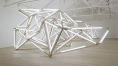 saatchi gallery art collection organic light sculpture installatian