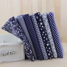Azul 50 cm x 50 cm trimestres de gordura tecido de algodão para costura DIY têxteis Patchwork tecidos Tilda pano telas de tecido(China (Mainland))
