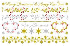 クリスマス柄!!金と銀の箔でとっても綺麗です Happy New Year Love, Merry Christmas And Happy New Year, Xmas, Symbols, Christmas, Navidad, Noel, Natal, Glyphs