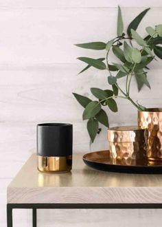 vases et boîtes cuivre H&M Home