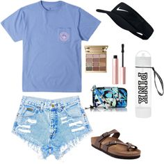 Untitled #36 by lacihebel on Polyvore featuring polyvore, fashion, style, Birkenstock, Vera Bradley, Stila, Too Faced Cosmetics and clothing