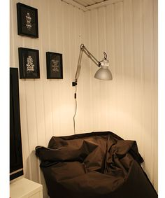 """On the wall - """"Tertial"""", lamp from Ikea."""