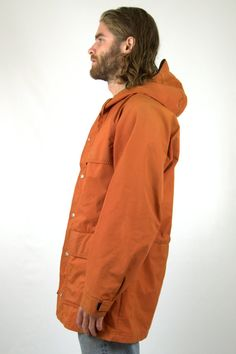 Vintage 70s REI CO-OP Orange Cordura Hooded Mountain Parka. This vintage mountain parka is in good vintage condition as photoed. It does show