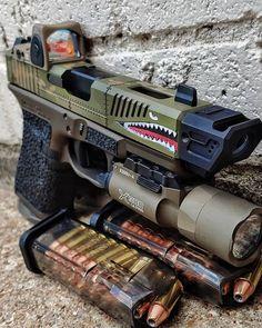 Why Sidearm Is Important In Airsoft? Airsoft Guns, Weapons Guns, Guns And Ammo, Zombie Weapons, Armas Ninja, Custom Guns, Military Guns, Military Jackets, Cool Guns
