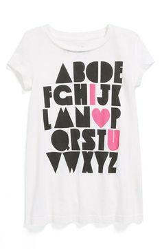 Chaser 'Alphabet' Cotton Tee (Toddler Girls) available at #Nordstrom