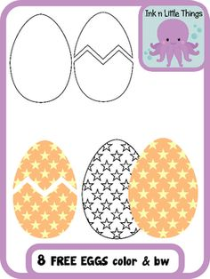 This is a sample from my Easter Eggs Clip Art set, with 7 Easter eggs in color and black and white.    Need more Easter eggs? Check out my Easter Eggs Clip Art Set.