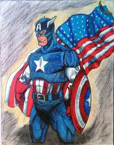 Captain America  - Mixed Media - Gift by SleepWalker-7thLotus