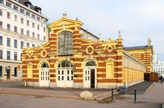 HELSINKI, FINLAND - OCTOBER 13, 2011: Wanha Kauppahalli. The Old Market Hall. Was built in 1888. It was the first indoor hall in Helsinki. Located near Market Square photo