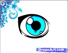 How to Draw a Simple Anime Eye, Step by Step, Anime Eyes, Anime ...
