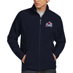 Antigua Colorado Avalanche Ice Full Zip Fleece Jacket - Steel Blue - $48.99