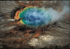 Probably the most amazing thing on earth: The Grand Prismatic hot spring in Yellowstone. Nature is such a different, explainable phenomenon that always amazes me.