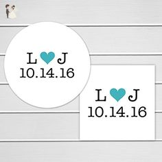 Save The Date Stickers, Save The Date Envelope Seals (#104) - Wedding party invitations (*Amazon Partner-Link)
