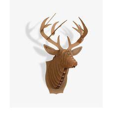 3D Deer Head Animal Paper Jigsawa Puzzle Paper Craft DIY Handmade Creative Wall Decoration Hanging Ornament Kids Creative Toys