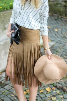 Fringe is majorly trending this season! Make the look yours with this skirt HERE for $29.99. Free shipping is available!