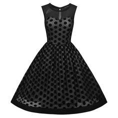 Polka Dot Elegant Summer Sleeveless Party Dress Polka Dotted All The Things Boutique #Polkadots #Fashion