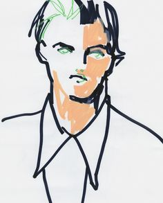 An original fashion illustration of the Marni Spring/Summer 2016 collection. Commissioned by SHOWstudio as part of the Milan menswear. #fashion #illustration