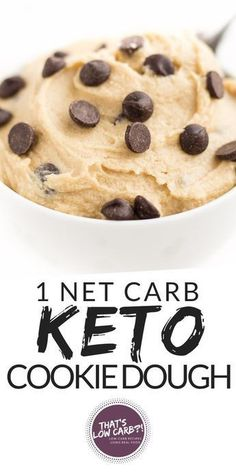 KETO COOKIE DOUGH RECIPE FOR THOSE LATE NIGHT COOKIE DOUGH CRAVINGS. THIS LOW CARB DESSERT WILL HIT THE SPOT AT JUST 1 NET CARB PER SERVING!