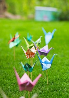 Multicolour Wedding Inspiration | Origami