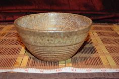 "Studio Pottery Handmade Soup/Rice Brown Bowl Signed 5 7/8""x2 3/4"""