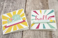 Stampin´ Up! - Artisan Design Team - Blog Hop - Thinlitsform Sonnenstrahlen - Hallo - Sonnengruß - 8