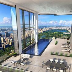 Share your thoughts about this design? - 36 Central Park South was a proposal for a new residential tower which would have replaced the Park Lane Hotel. The slender tower sits atop a through-block winter garden, which serves both