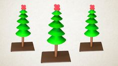 Paper Christmas Tree Making With Green Color Paper Christmas Origami, Christmas Crafts, Christmas Decorations, Paper Craft Making, How To Make Paper, 3d Paper, Paper Crafts, Origami Easy, Xmas Tree