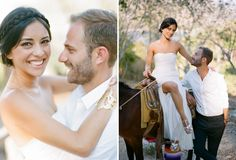 What a stunning bride! We love her boho-chic hairdo, the flashy shoes, and the simplicity of her white gown.
