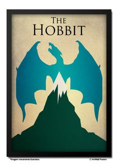 Poster The Hobbit - QUADRO EMOLDURADO