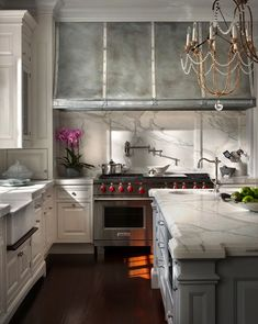 Rangehood and white granite
