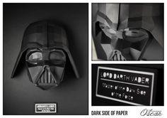 Dark Side of Paper Lord Darth Vader : Master of the dark side of the force  Monsieur Oscar www.monsieuroscar.com