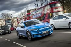 Ford says it will launch a specially tuned version of the Mustang Mach-E electric crossover in Europe at the same time time it launches in the U. All Electric Cars, E Electric, Porsche, Audi, Bmw, Electric Crossover, Trondheim, Power Cars, Pony Car