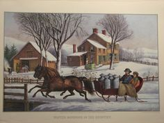 """Just like a picture print by Currier and Ives . . . "" (Winter Morning in the Country, by Currier and Ives)"
