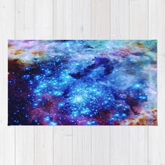 Galaxy Area Rug This listing is for a beautiful artist designed decorative area rug. This beautiful rug is: - woven polyester - Washable Area Rugs, Machine Washable Rugs, Chevron Area Rugs, 4x6 Rugs, Star Rug, Polyester Rugs, Blue Sparkles, Area Rug Runners, Accent Rugs