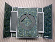 AnnasArt: card with magic window Fancy Fold Cards, Folded Cards, Stampin Up, Tarjetas Pop Up, Peek A Boo, Karten Diy, Interactive Cards, Up Book, Card Making Tutorials