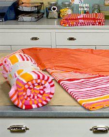 Turn a beach towel into a all-weather picnic blanket - Martha Stewart Crafts