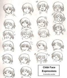 + Chibi Expressions + by ~LadyAlan on deviantART