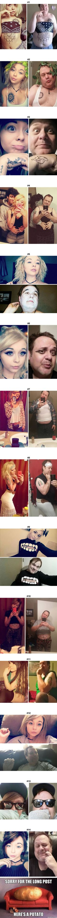 <3 this!! Dad Who's Been Trolling Daughter By Recreating Her Racy Selfies Now Has 2x More Followers Than Her