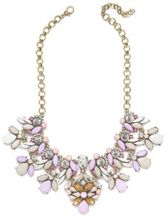 Want to wear this pastel statement necklace with everything this summer!