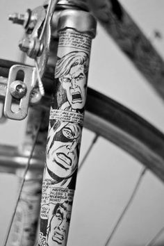 Comic Look bycicle Paint Bike, Bicycle Painting, Bicycle Art, Bicycle Design, Velo Vintage, Vintage Bicycles, Pimp Your Bike, Bike Details, Push Bikes
