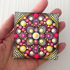 Original Mandala Painting on Canvas Painting by CreateAndCherish