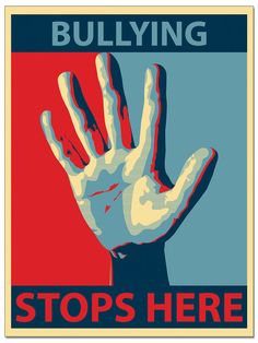 Bullying Stops Here - Anti-Bullying Poster  @Students Against Violence Everywhere (SAVE) www.nationalsave.org