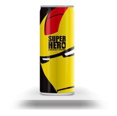SUPERHERO (Energy Drink) /// Iron Man /// by Mike Karolos /// via Behance