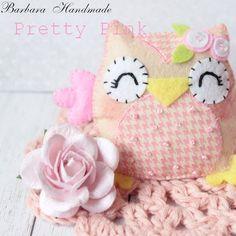 Barbara Handmade...: Różowa sówka