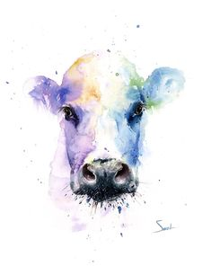 cow watercolor painting artist eric sweet