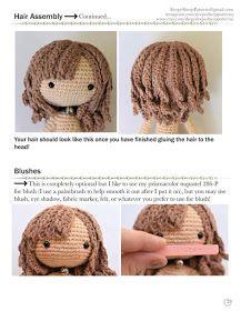 KUFER z artystycznym rękodziełem : Bajkowa lala ze wzorem darmowym Your Hair, Crochet Hats, Amigurumi, Knitting Hats