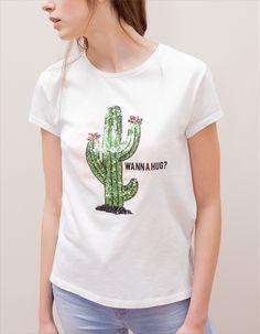 Afbeeldingsresultaat voor cactus shirt paillet