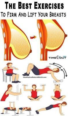 The fosllowing exercises won't turn A cups into Bs or beyond. But they can help you to build up your upper body muscles and improve the appearance of your breasts without having a surgery. Reto Fitness, Sport Fitness, Body Fitness, Fitness Diet, Fitness Motivation, Health Fitness, Health Club, Health Exercise, Exercise Motivation